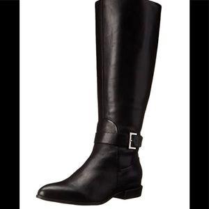Nine West black leather Diablo boots size 8